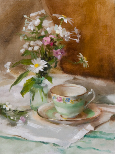 White Flox and Tea Cup