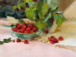 Raspberries in a Dish